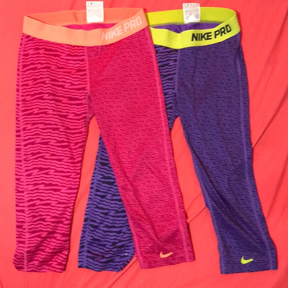 Nike Other - 2 kids size large Nike Pro capris fits women s xs 052474323